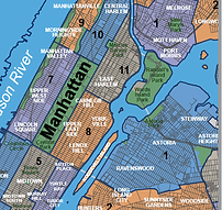 Map of Morningside Heights, Harlem, Upper West Side, Upper East Side, Hells Kitchen, Clinton, Midtown, Midtown East, Chelsea, Murray Hill, Astoria, Long Island City, Williamsburg, Gramercy, Flatiron, West Village, Greenwich Village, Tribeca, SOHO