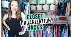 HOW TO ORGANIZE YOUR CLOSET ON A BUDGET