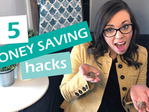 WANT TO SAVE MONEY? 5 QUICK TIPS!