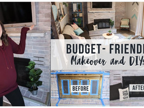 Budget-friendly Room Makeover & DIY Fireplace Transformation
