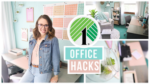 HOW TO ORGANIZE YOUR OFFICE ON A DOLLAR TREE BUDGET