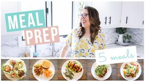 5 WEEKLY DINNERS & MEAL PREPPING HACKS