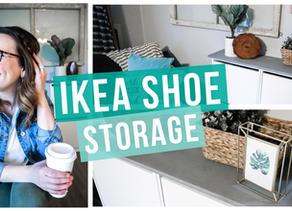 BUDGET FRIENDLY IKEA SHOE STORAGE HACK