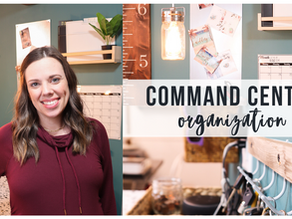How to Eliminate Clutter with a BUDGET FRIENDLY COMMAND CENTER