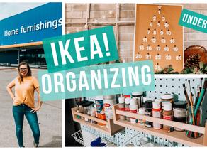 IKEA ORGANIZING HACKS UNDER $15 & CHRISTMAS DIY