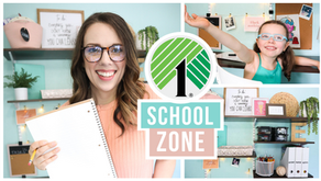 BUDGET FRIENDLY BACK TO SCHOOL AT HOME CLASSROOM - DOLLAR TREE EDITION
