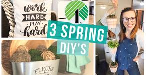 3 DOLLAR TREE SPRING DIY's ON A BUDGET