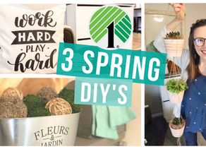 3 DOLLAR TREE SPRING DIY's ON A BUDGET