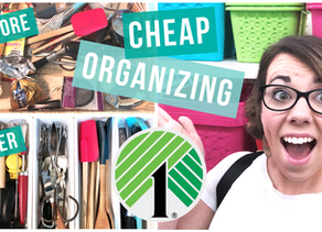 CHEAP WAYS TO ORGANIZE WITH DOLLAR TREE ITEMS