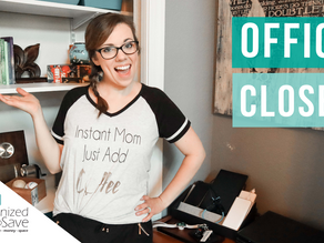 HOW TO ORGANIZE A GUEST ROOM/HOME OFFICE CLOSET