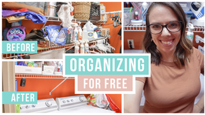 HOW TO GET ORGANIZED FOR FREE | LAUNDRY ROOM MAKEOVER
