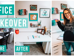 OFFICE MAKEOVER ON A $40 BUDGET