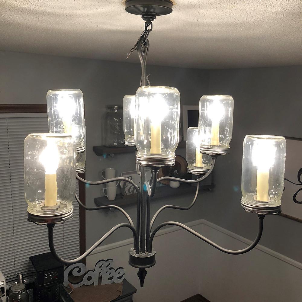 farmhouse light DIY