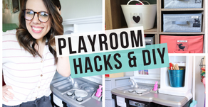 EASY PLAYROOM ORGANIZING HACKS & DIY
