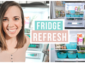 Refrigerator organization ideas/clean with me