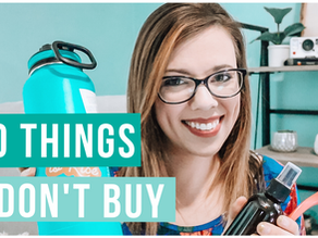 10 THINGS I DON'T BUY TO SAVE MONEY