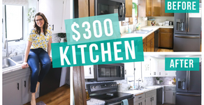 $300 BUDGET KITCHEN MAKEOVER