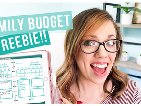 HOW TO HAVE A BUDGET MEETING / FREE WORKSHEET