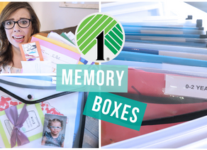 SCHOOL MEMORY BOX STORAGE | HOW TO ORGANIZE KIDS ARTWORK