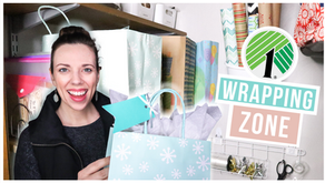 Budget Friendly Gift Wrapping Zone | Dollar Tree