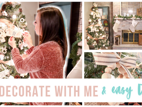 Christmas wooden DIY & decorate with me