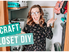 OFFICE CRAFT CLOSET DIY MAKEOVER