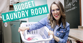 BUDGET LAUNDRY ROOM TRANSFORMATION HACKS
