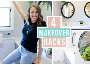 4 WAYS TO UPDATE A SPACE WITH PAINT | BUDGET FRIENDLY BATHROOM MAKEOVER