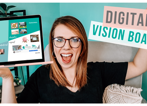 HOW TO CREATE A DIGITAL VISION BOARD | FREE CANVA TEMPLATE