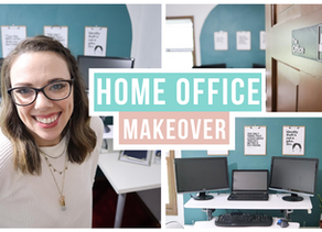 Work From Home Office Makeover on a Budget