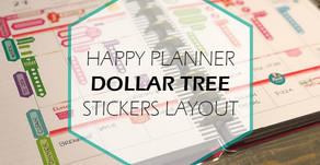 HAPPY PLANNER - DOLLAR TREE STICKERS LAYOUT