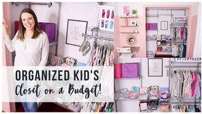Organized kid's closet on a budget