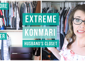 I KONMARIED MY HUSBAND'S CLOSET | BEFORE & AFTER