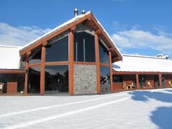 Woodbury Safari Lodge in the snow