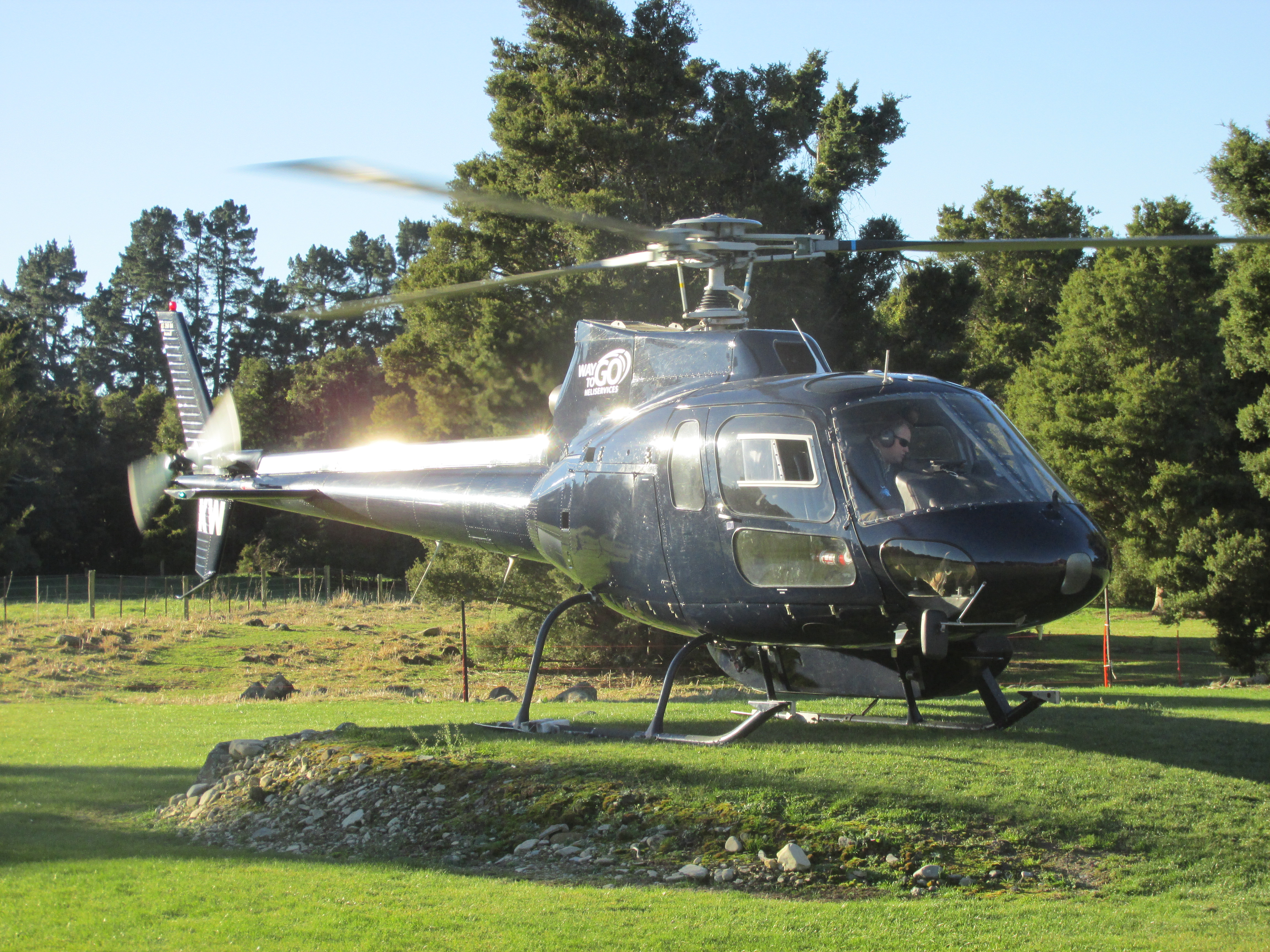 Lodge helicopter