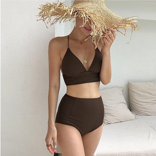 Spaghetti Strap High Waist Bikini 幼帶高腰比堅尼
