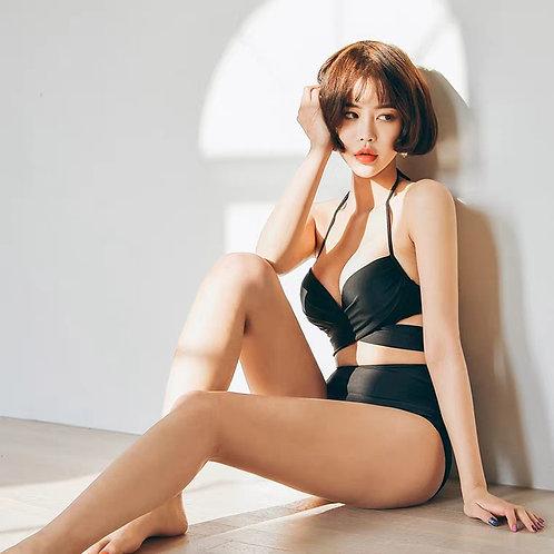 Sexy Rosette High Waist Bikini (Black) 性感蝴蝶結高腰比堅尼泳衣(黑色)