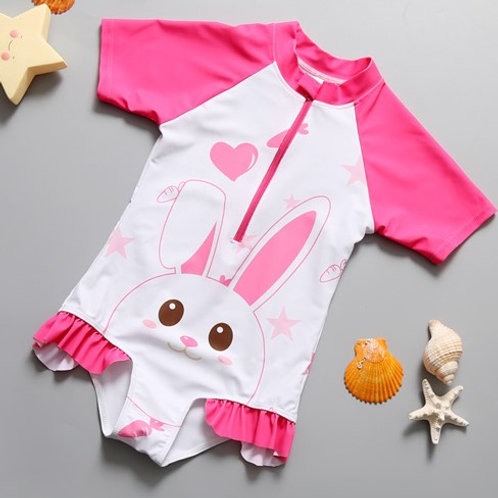 Bunny Short Sleeve Swimsuit 兔寶寶短袖連身泳衣
