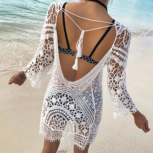 Blackness Crochet Smock 露背網織罩衫