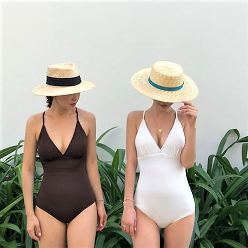Simply Cross Band Swimsuit 簡約交叉帶泳衣