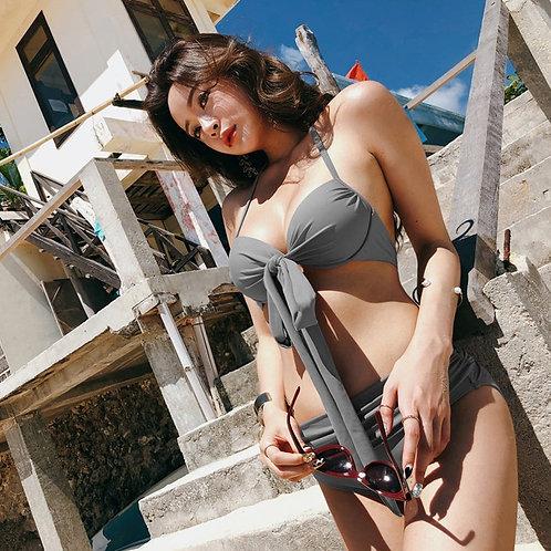 Sexy Rosette Bikini (Gray) 性感蝴蝶結比堅尼泳衣(灰色)
