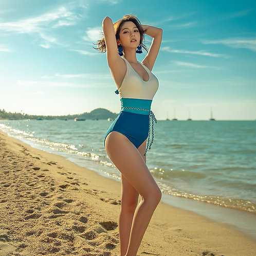 天空色系一件式泳衣 Sky-tone One Piece Swimsuit