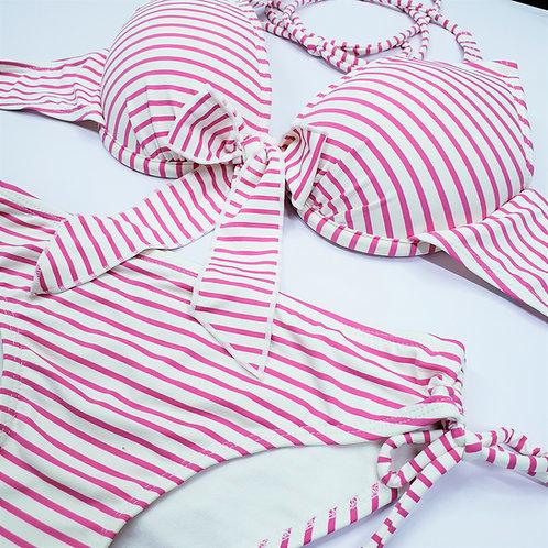 Horizontal Stripe  Bowknot Bikini 橫間蝴蝶結比堅尼