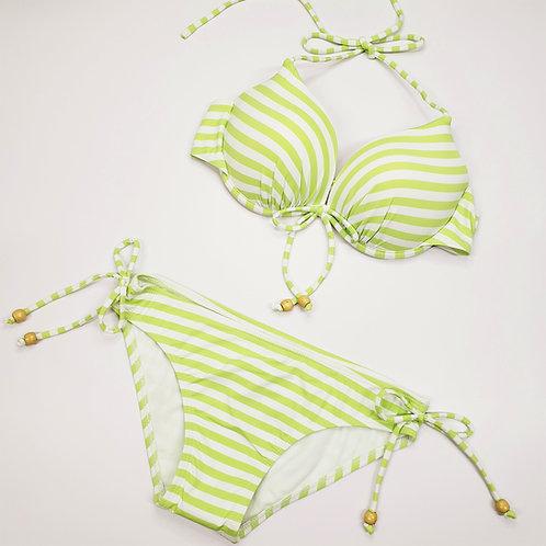 Light Green Stripe Bikini 淺綠色橫間比堅尼
