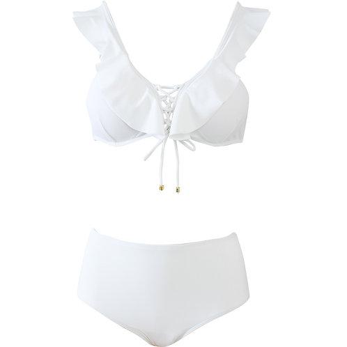 2-ways Style Ruffle V Neck Bikini 2段變波浪領比堅尼