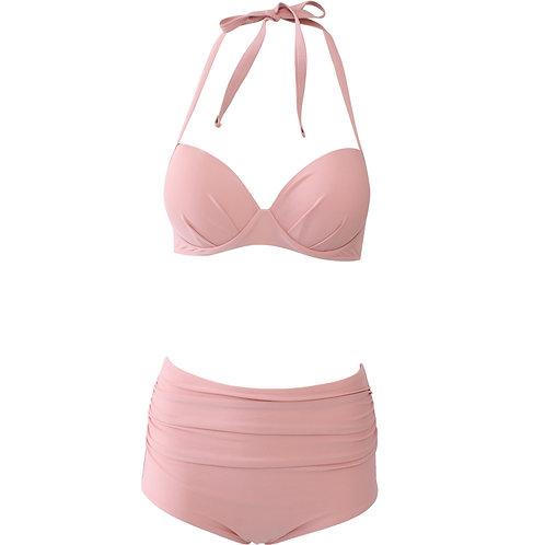 Push-up High-waist Bikini (Pink)