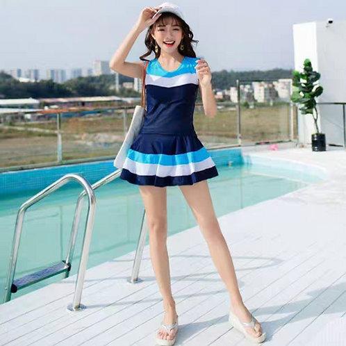 Korean Style 2 Pieces Sporty Swimwear 韓版運動泳衣兩件套裝