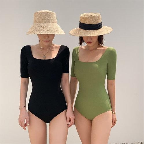 Arty U-neck Swimsuit 文青風U領泳衣