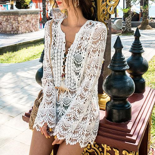 Fancy Net Smock 精緻網織罩衫