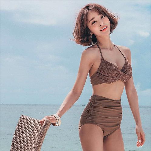 Korean Style Knit Stitching Bikini 韓版針織拼接比堅尼